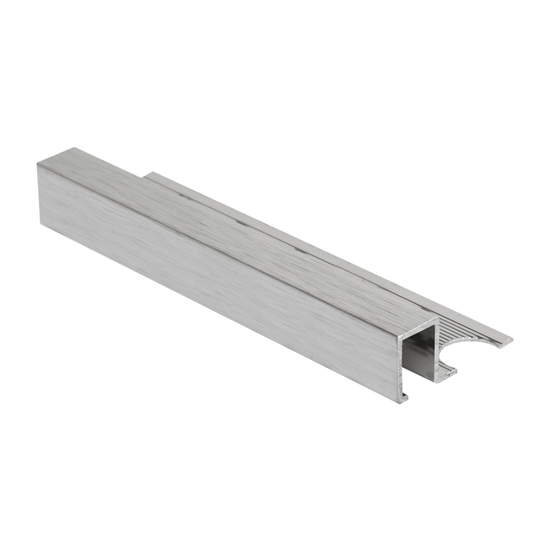 10mm Amqe100b Square Edge Box Trim Brushed Silver Corners Are Available On All Sizes Silver Tile Tile Trim Brushed Silver