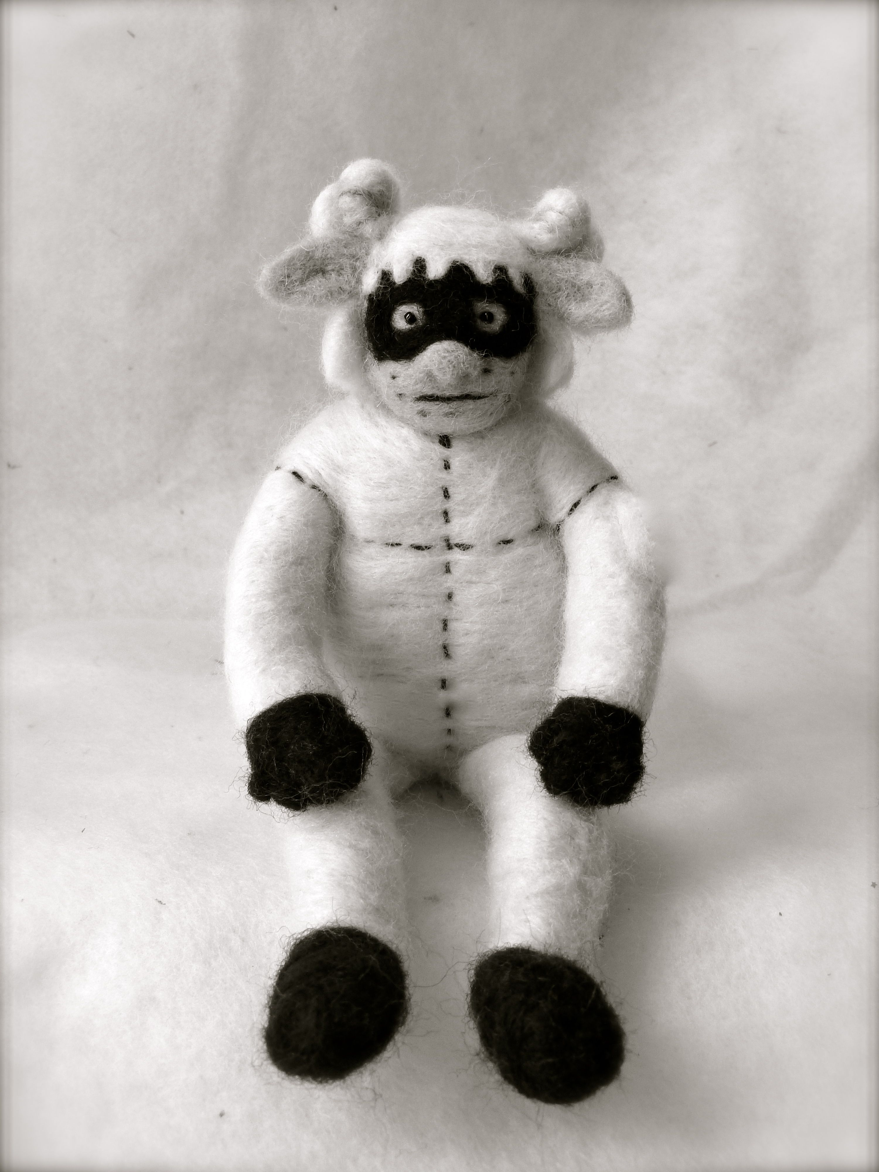 Sheepman (needle felted by gina)