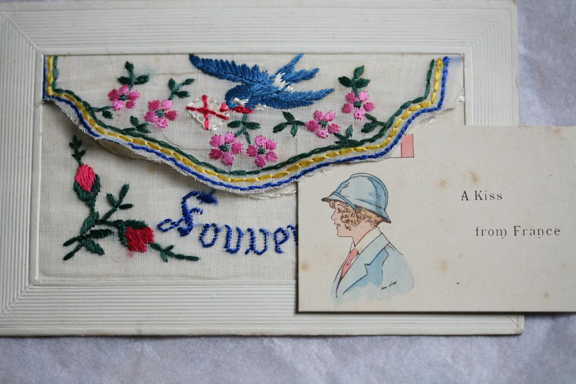Embroidered envelopes from the early 1900's Fabric