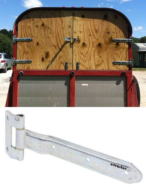 Finish Up Your Diy Enclosed Trailer With Heavy Duty Door Hinges You Can Latch The Open To 270 Degrees For Great Access Loading And Unloading