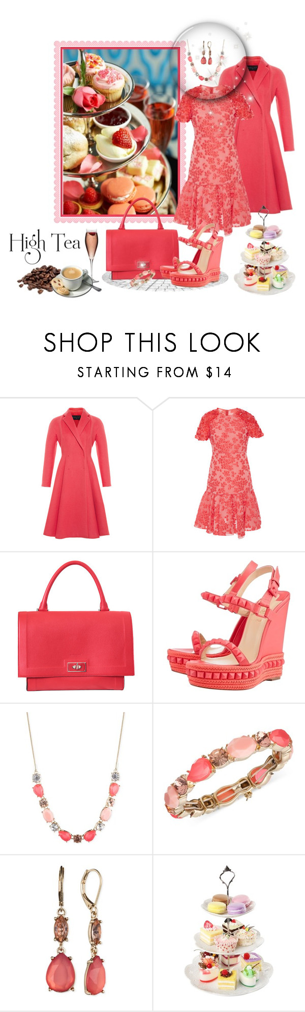 """High Tea With The Girls"" by leanne-mcclean ❤ liked on Polyvore featuring Giambattista Valli, Givenchy, Christian Louboutin and Nine West"