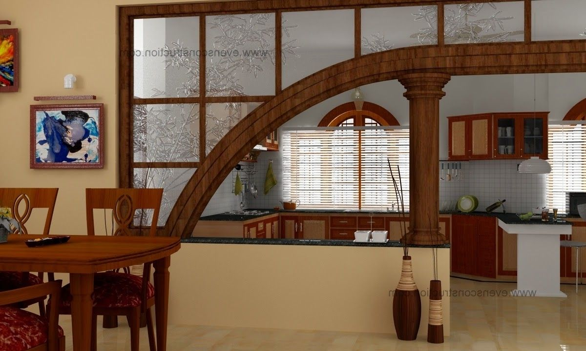 Fascinating Half Wall Room Divider For Interior Design Wooden Dining Set And