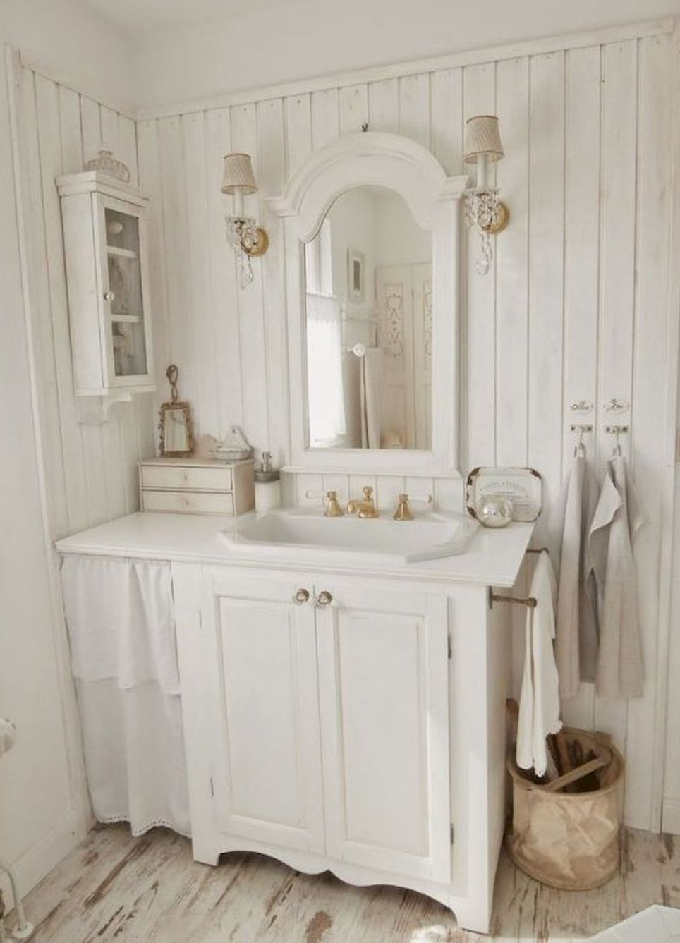 84 Comfy Cottage Bathroom Makeover Ideas | shabby style | Pinterest ...