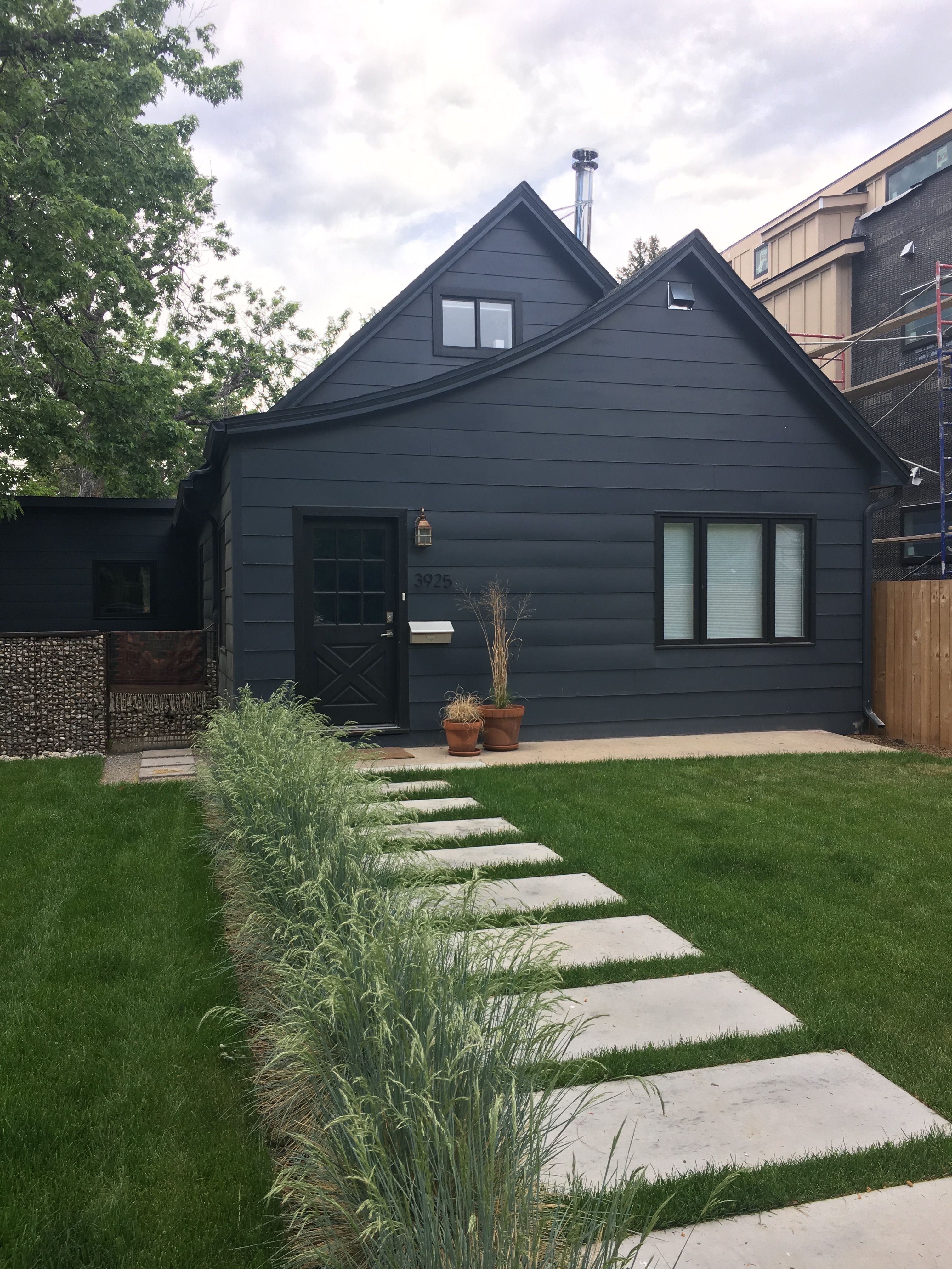 Love The Blue Color Siding With Black Window Trim Black Window Trims Black Windows Window Trim