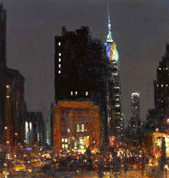 Andrew Gifford, Night Study from the Flat Iron Building