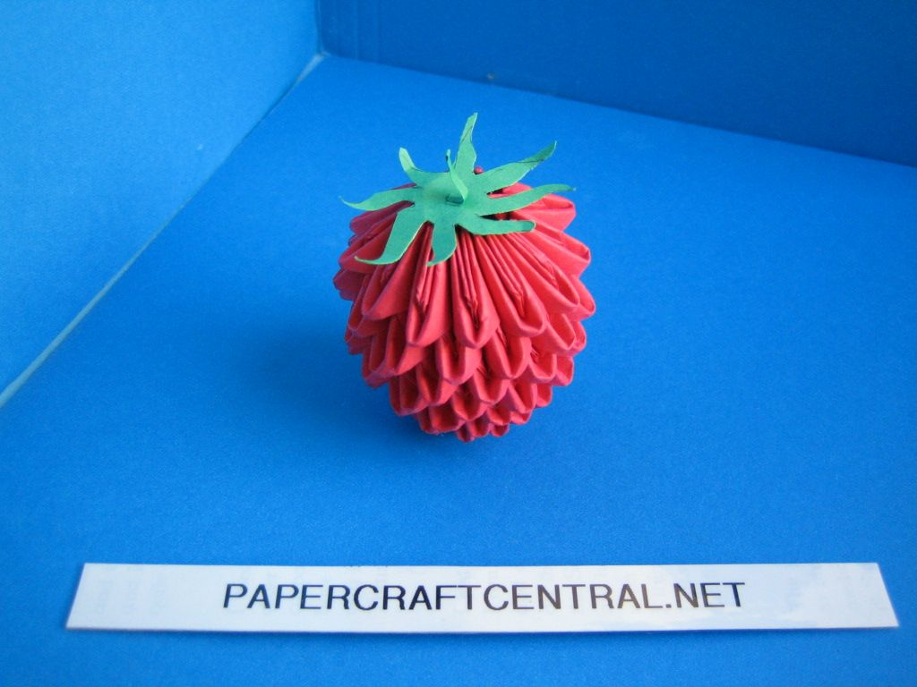 3d origami � strawberry origami pinterest 3d origami