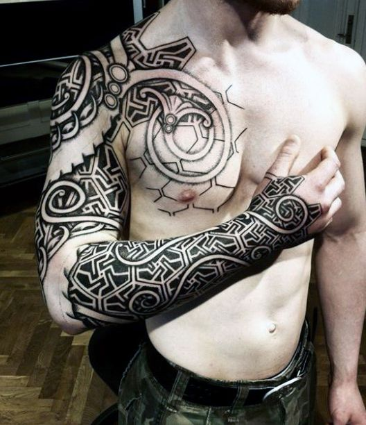 male viking dragon tattoos sleeve tribal pinterest viking dragon tattoo. Black Bedroom Furniture Sets. Home Design Ideas
