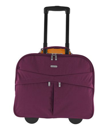 1f5d30e3c Take a look at this Mulberry Skyline Rolling Briefcase by baggallini on  #zulily today! $80 !!