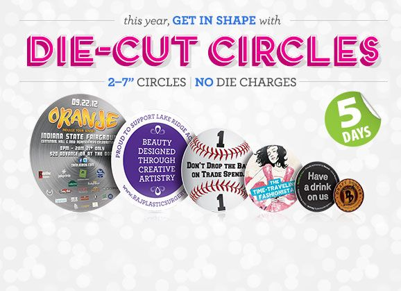 Jakprints die cut circles circle postcards circle flyers jakprints is a premier print shop with over a decade of experience in online printing get custom shirts business cards and much more at jakprints colourmoves