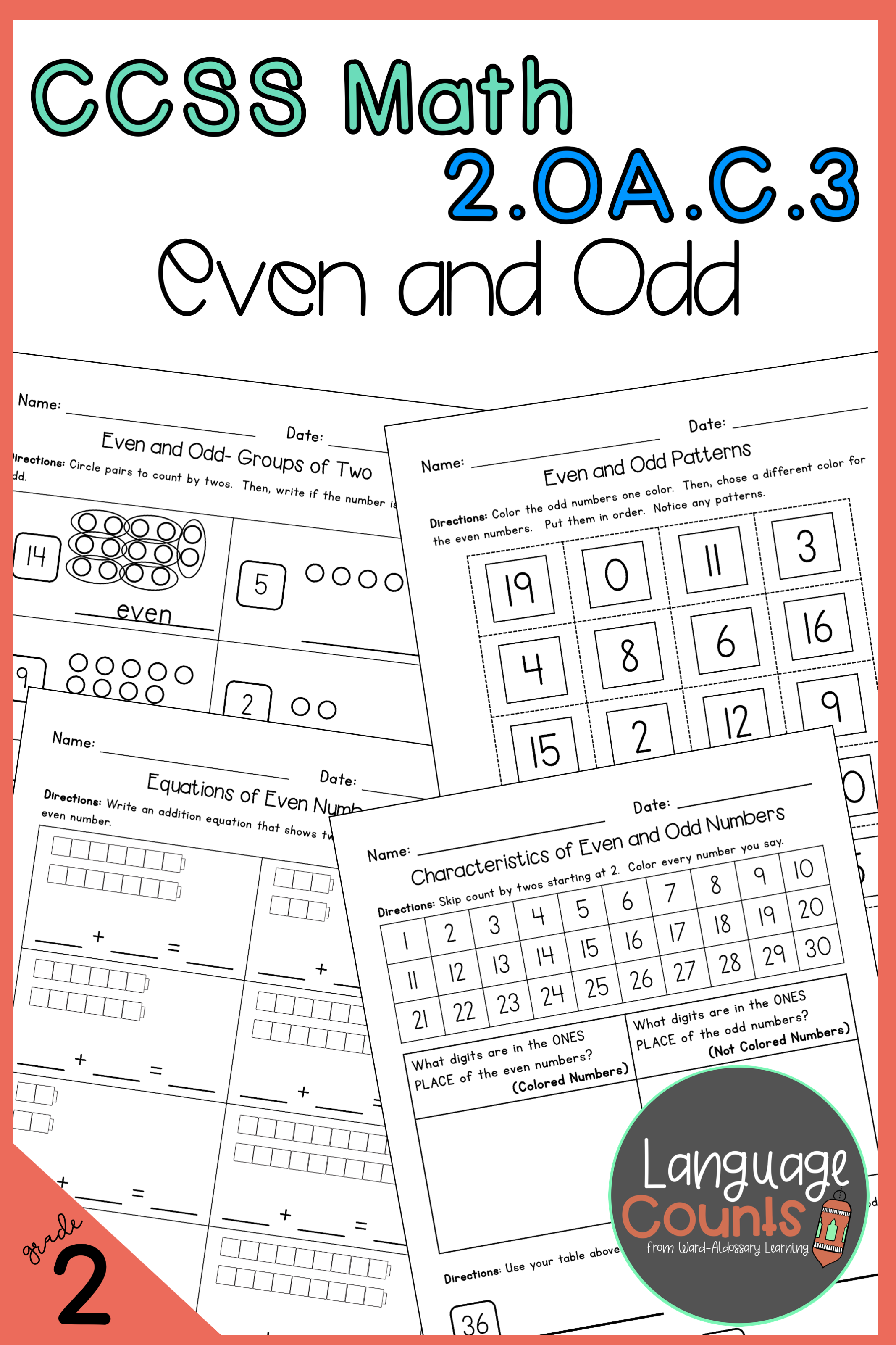 2nd Grade Even And Odd Numbers No Prep Practice