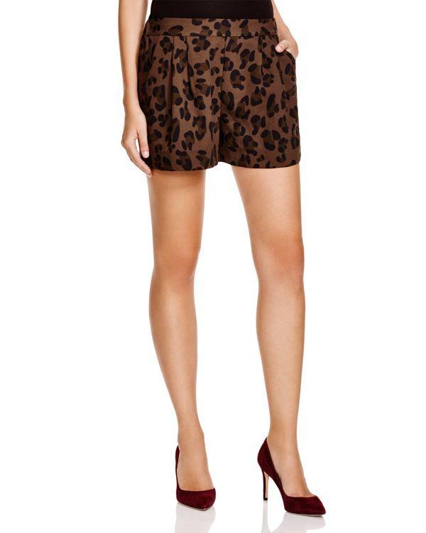 Essentiel Pop That Poppy Leopard Print Shorts