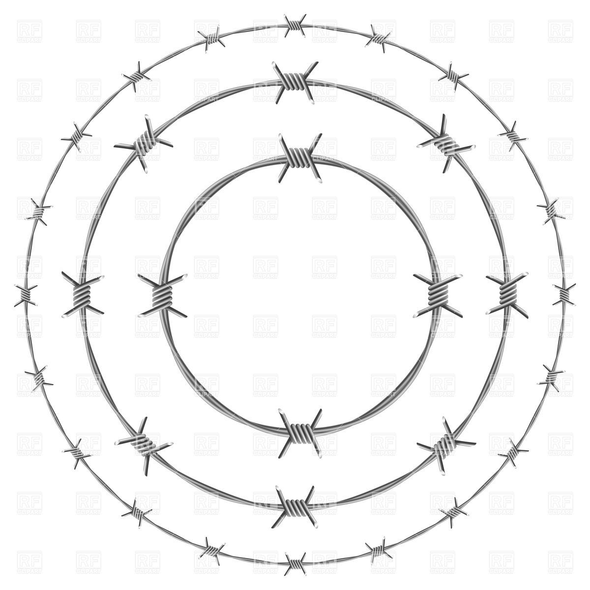 Barbed Wire Circle Frames Vector Image Vector