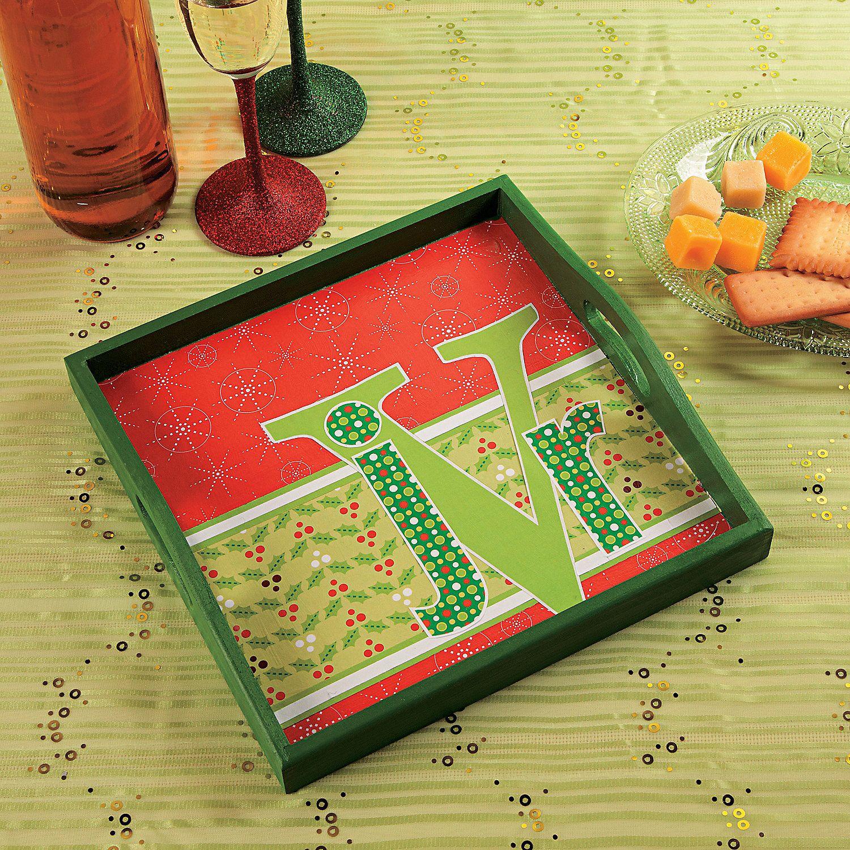 Monogram+Christmas+Tray+Idea+-+OrientalTrading.com