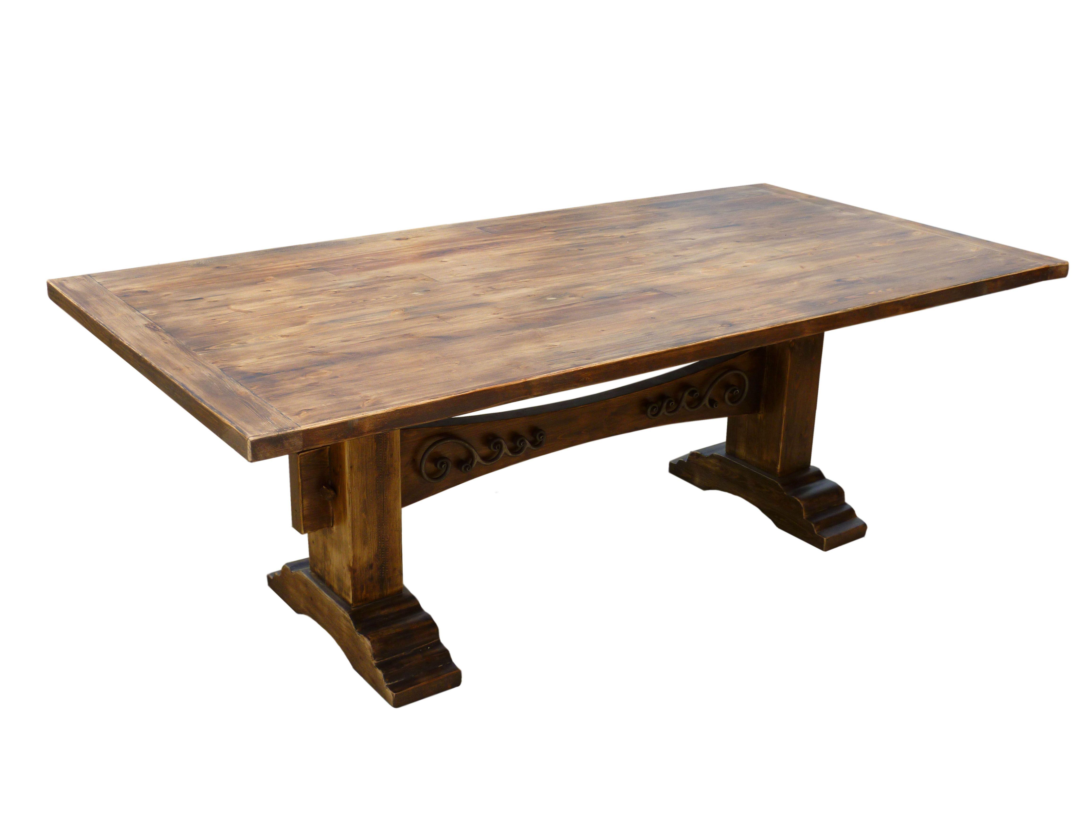 Custom Blackened Pine Trestle Table, Pine Community Table, Custom  Restaurant Table