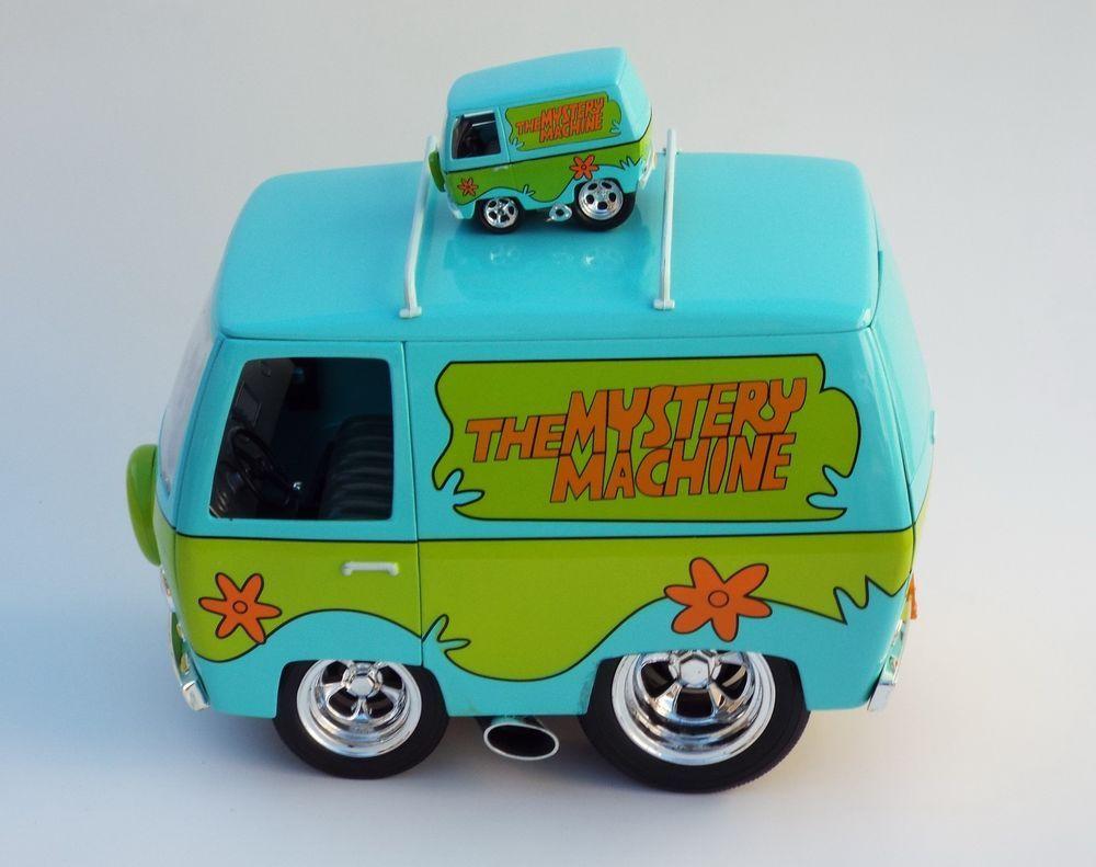 Muscle Machines 2 Custom Scooby Doo Hot Rod Vans 1:18 & 1/64 OOAK ...