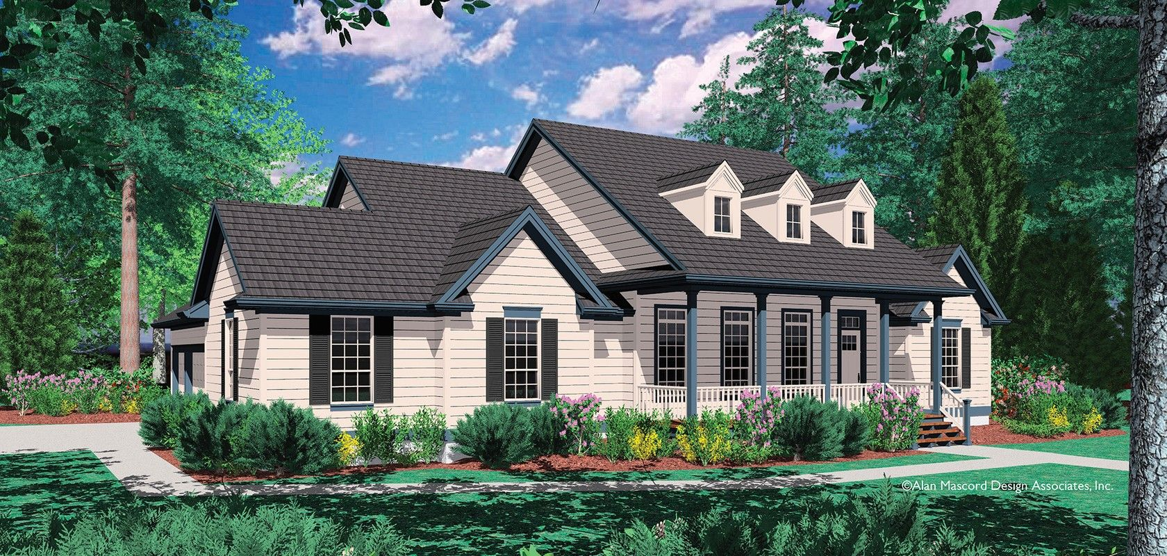 Mascord House Plan 1230 The Renville House Plans Country House Plans Country House Plan