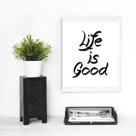 Printable Wisdom Inspirational Print Life Is by StoneColdPlace