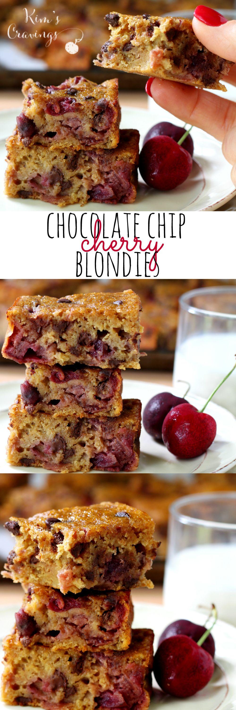 Chocolate Chip Cherry Banana Blondies | Recipe | Blondies ...