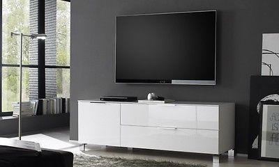Mobile Porta Tv Basso Moderno.Mobile Basso Moderno Porta Tv Soggiorno Moderno Laccato Bianco