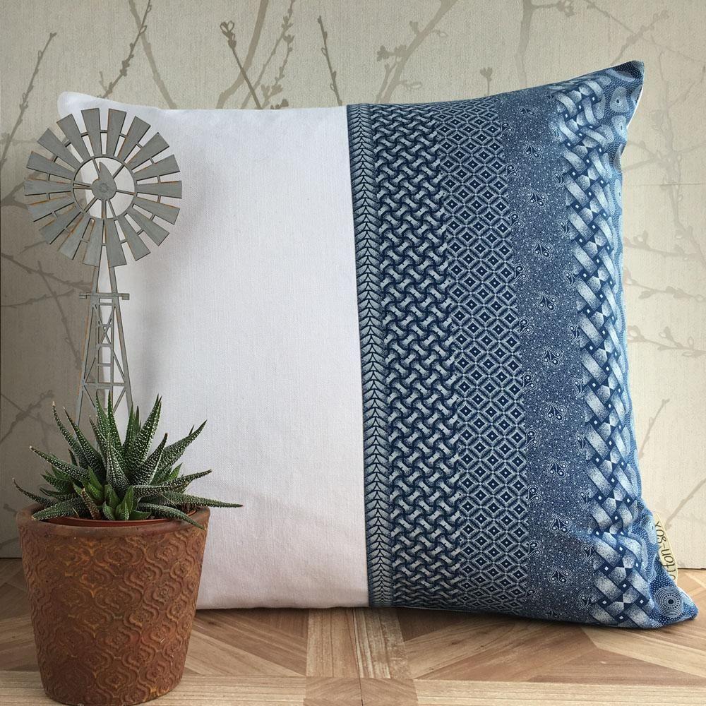 b98965edab0 Interior Design Shweshwe Cushion Cover 50 x 50cm Three Cats South African  Textiles
