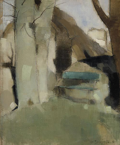 Green Bench - Helene Schjerfbeck - WikiPaintings.org