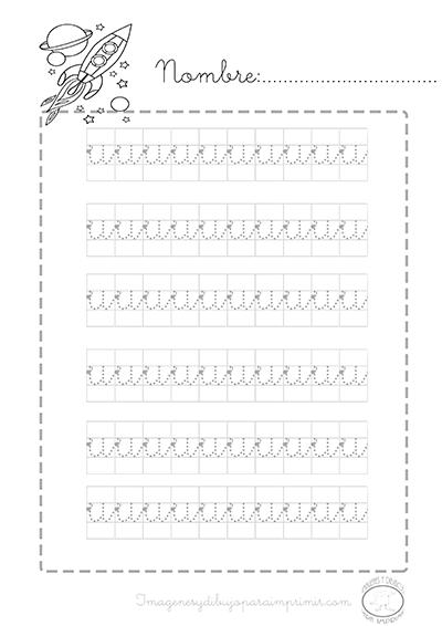 Preescolar Imprimibles Para Aprender Caligrafia Letra U Reading Writing Lettering Calligraphy Letters