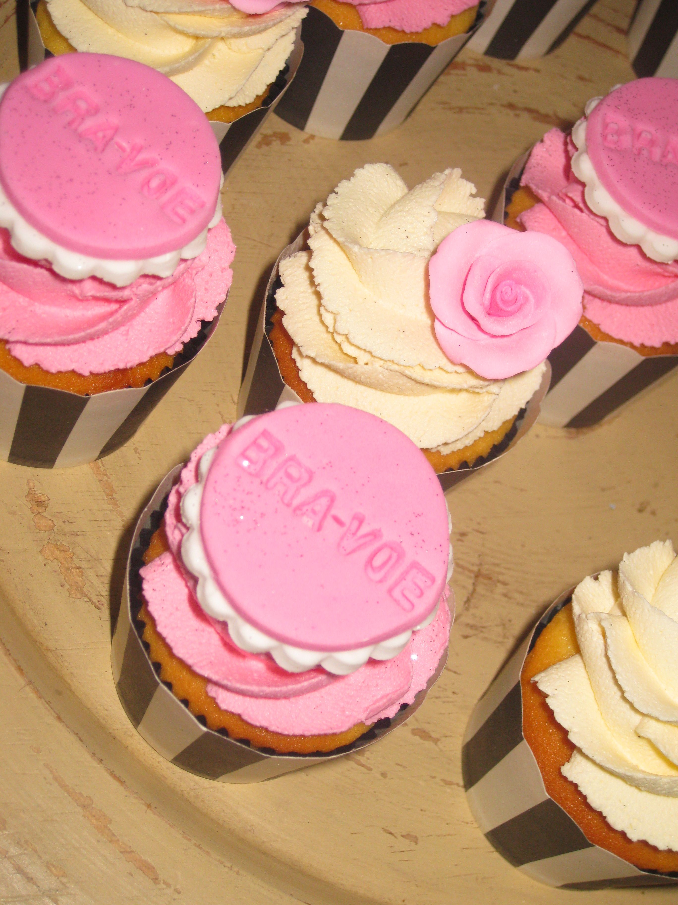 Nice Bra Voe Cupcakes For Launch Day Of My New Bra Storage Solution, Thank You