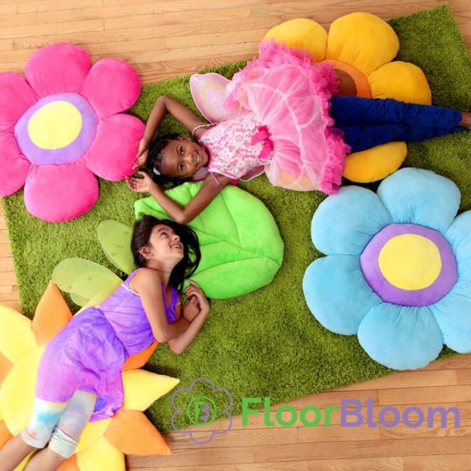 Power Pink Flower Floor Pillow | Floor pillows, Fairy bedroom and ...