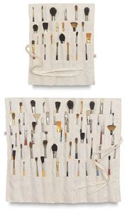 """If you like to keep a lot of brushes on hand, you need the 60-pocket Brush Organizer! No matter how many brushes you own, you can roll them up and store them with ease in this spacious, 22"""" × 18"""" (56 cm × 46 cm) organizer."""
