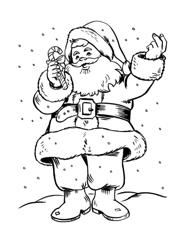 Download Santa Claus Drawing Hard