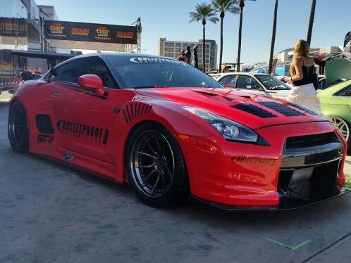 Bulletproof nissan gtr at the 2014 Sema show