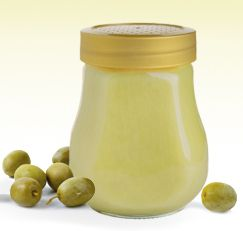Pour extra-virgin olive oil in a wide-mouth jar with a tight-fitting lid and refrigerate. The oil will solidify and you can use it as a healthy spread on bread or toast, in place of butter.