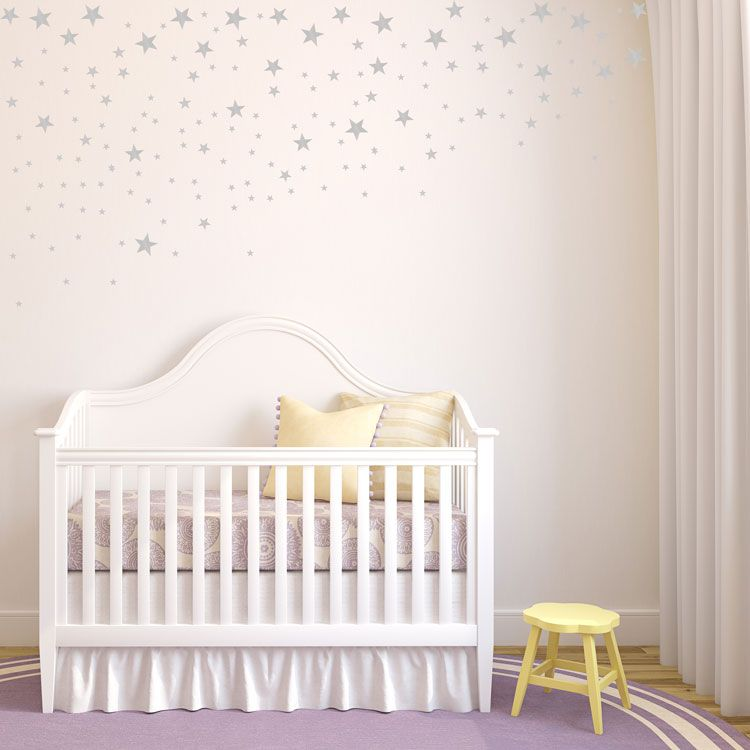 Tered Falling Stars Set Of 100 Star Wall Decals