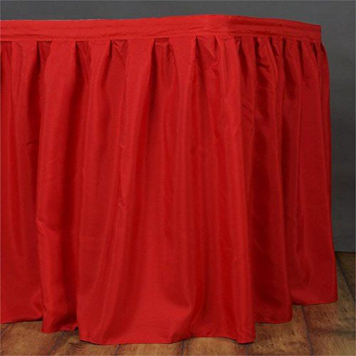 URBY 14 feet Polyester Table Skirt Red