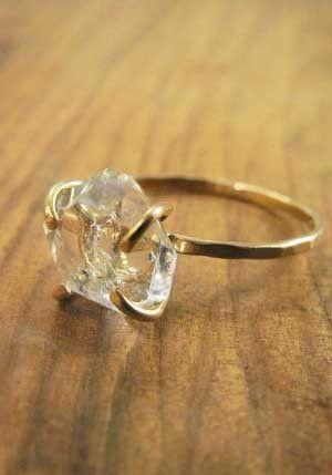 promise ring uncut diamond ring raw gemstone ring art deco ring Rose Gold  Ring minimalist ring Raw Diamond Ring Rings for woman
