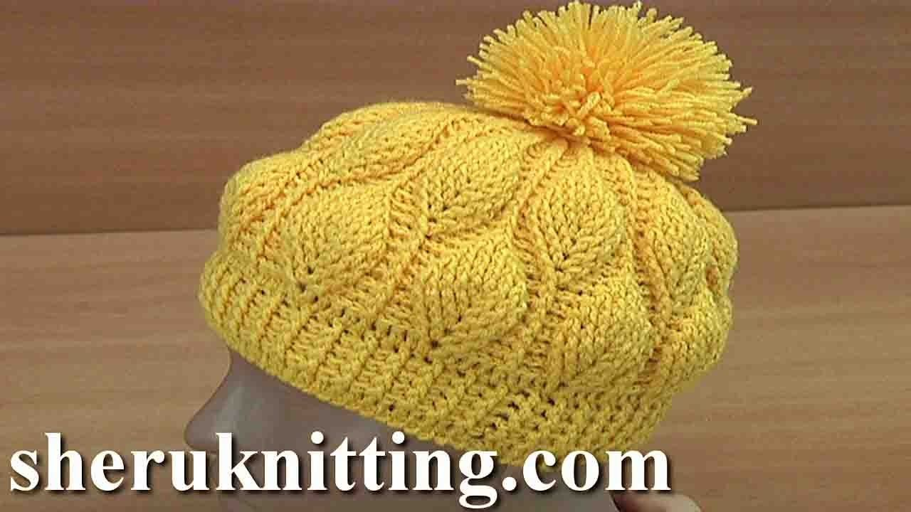 How to Crochet 3D Leaves Beanie Hat Tutorial 153 - YouTube Use G ...