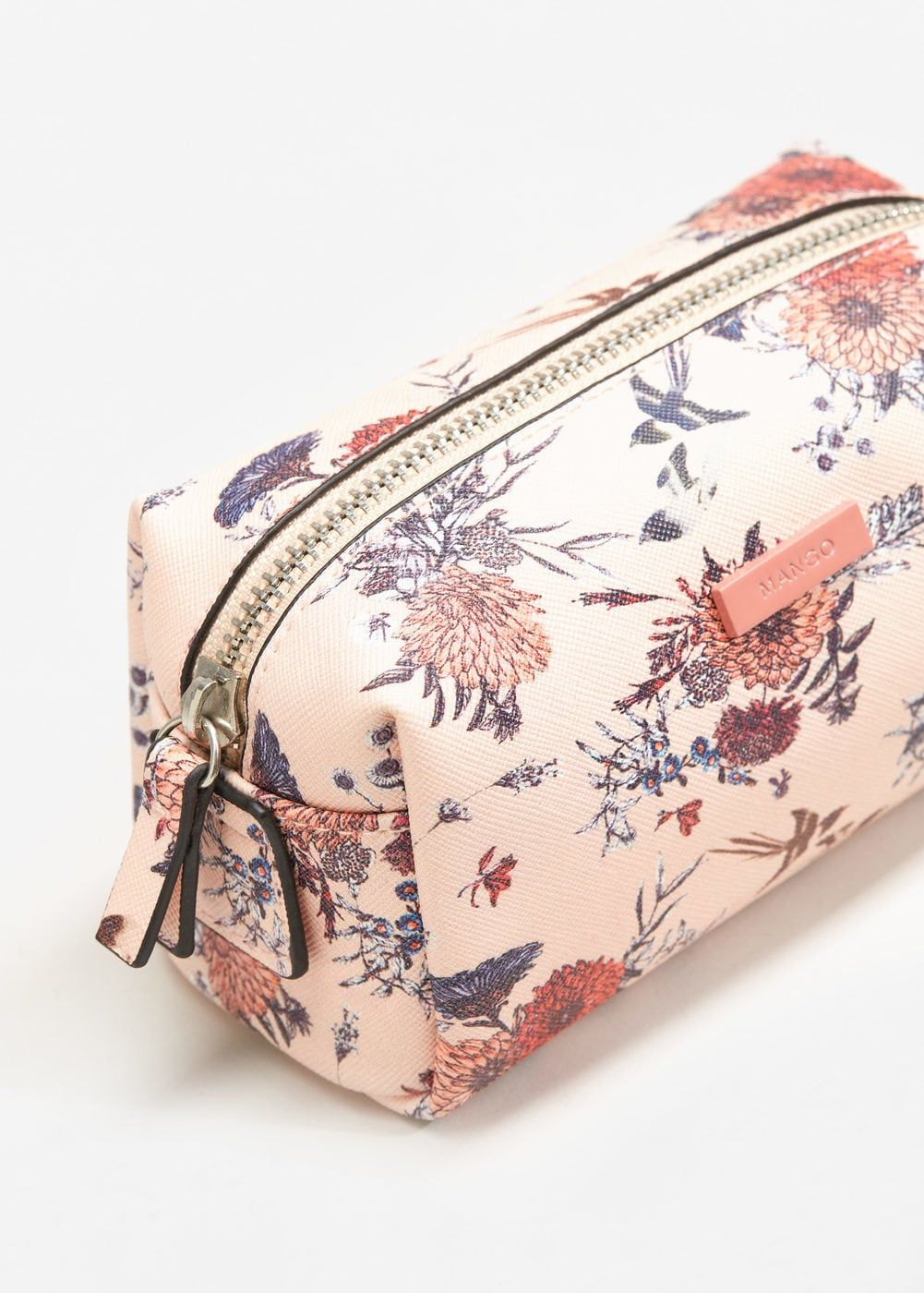 Floral saffianoeffect cosmetic bag Women Wash bags