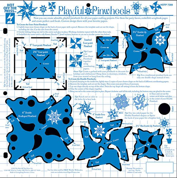 Playful Pinwheels Template | Cards and Paper Crafts | Pinterest ...