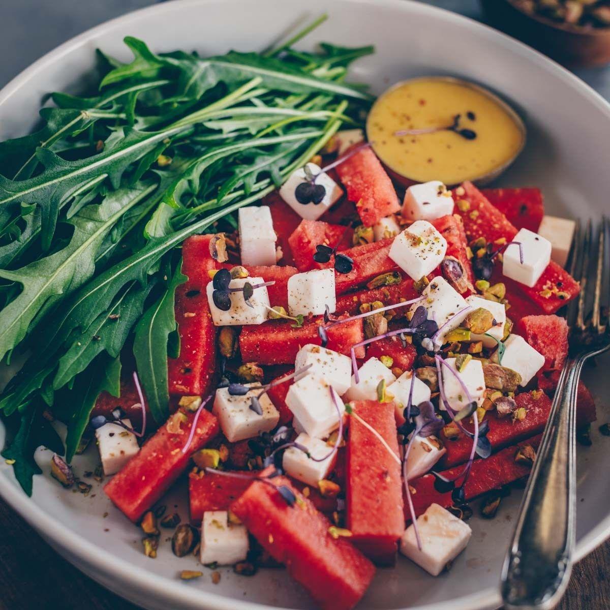 Veganer Wassermelone-Feta Salat * Freistyle