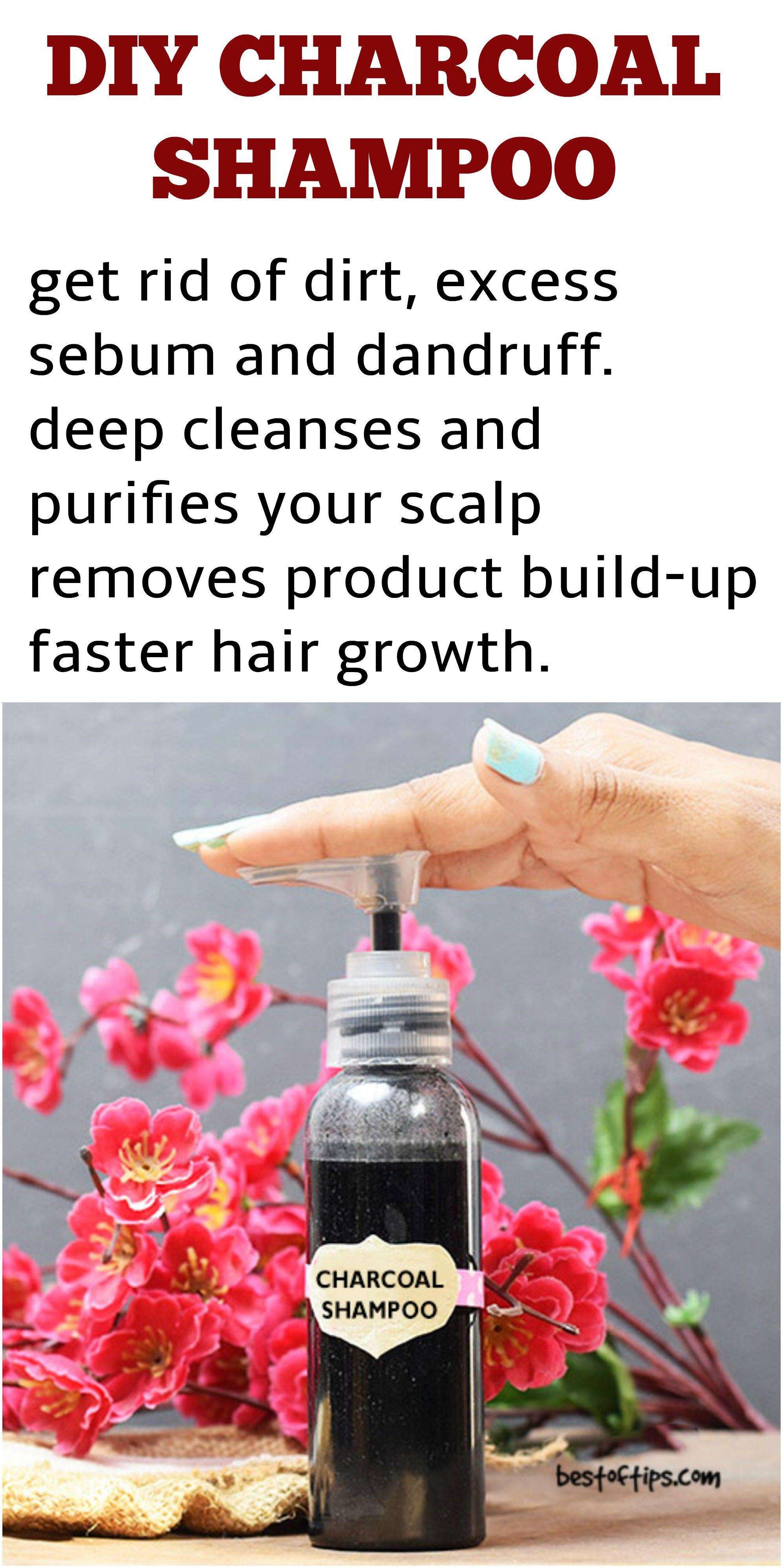 Charcoal Shampoo Diy Clean Hair Shampoo Charcoal Recipe