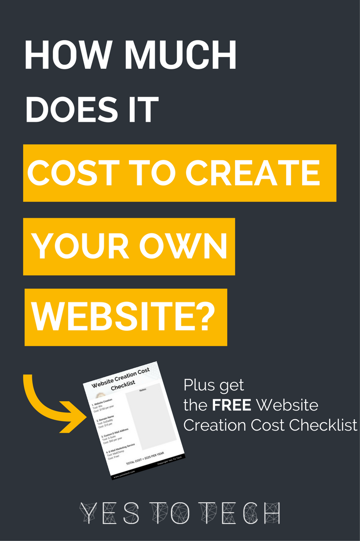 How Much Does It Cost To Create Your Own Website? Are you ...