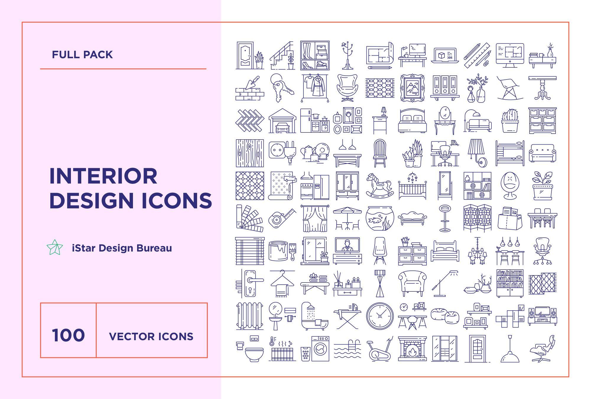 Interior Design Icons Set Icon Design Icon Set Line Icon
