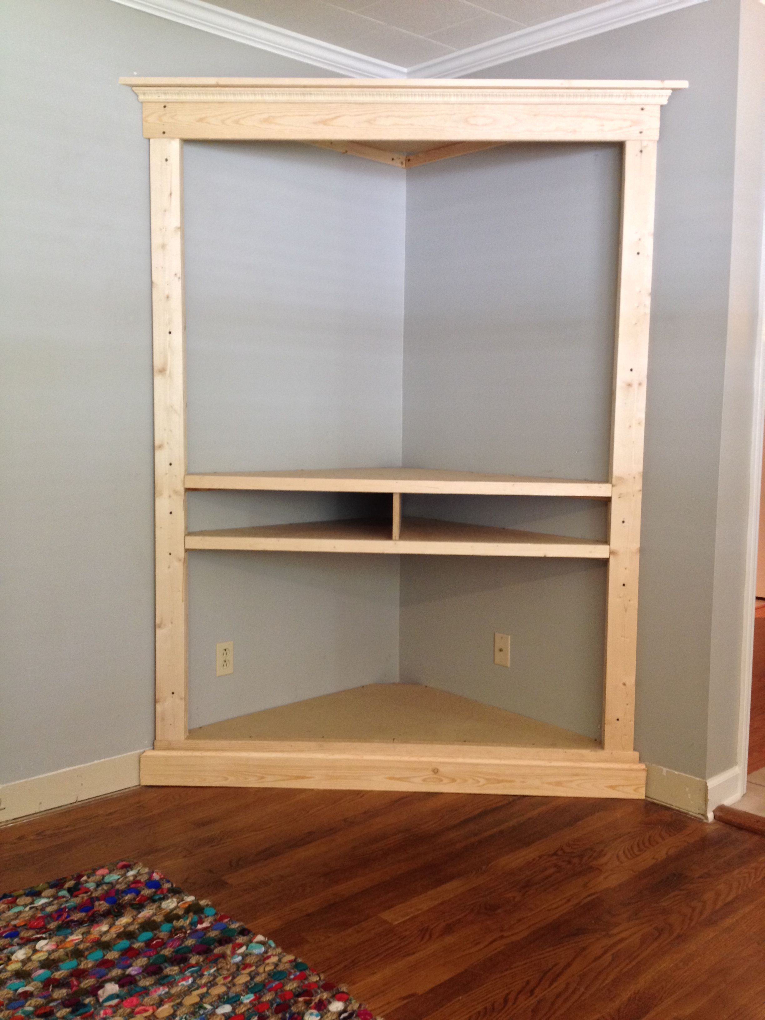 Best Custom Made Custom Corner Entertainment Media Cabinet 400 x 300