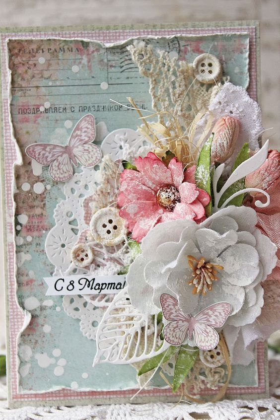 prettyshabby2  floral cards cards handmade chic cards