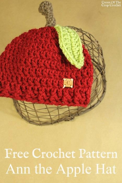 Ann The Apple Hat Crochet Pattern Cream Of The Crop Crochet