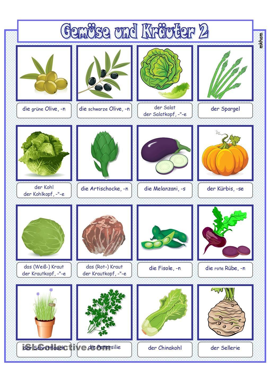 Bildwörterbuch_Gemüse 2 | Sprache | Pinterest | Bildwörterbuch ...