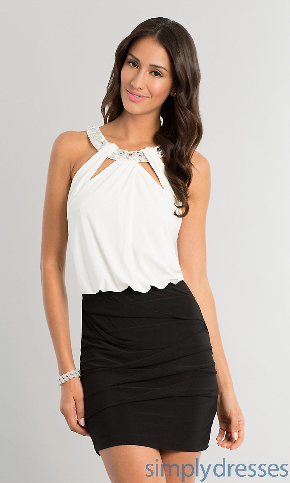 Dress short high neck sleeveless dress simply dresses do it