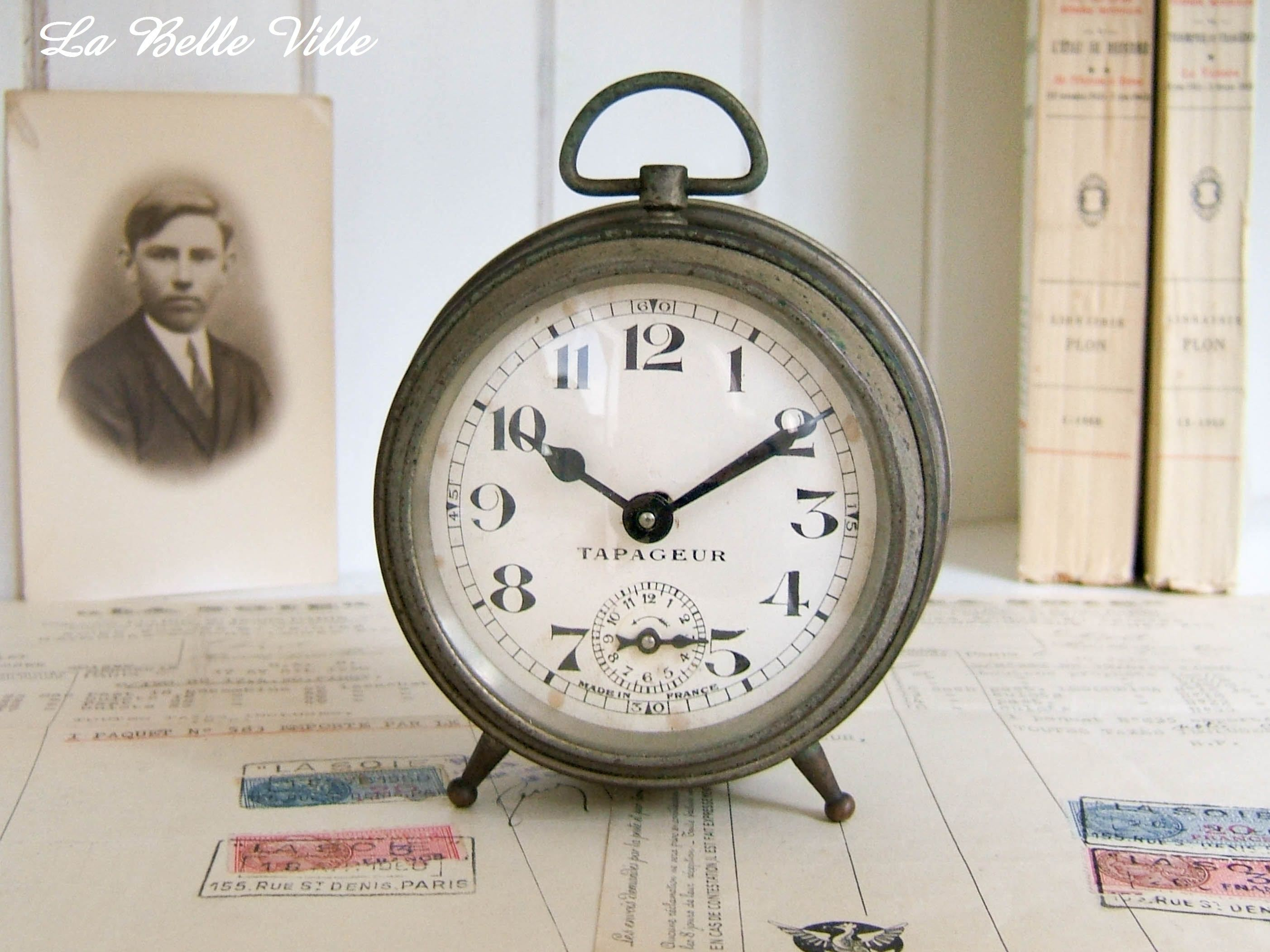 Antique French Clock Vintage Alarm Clock From France Small