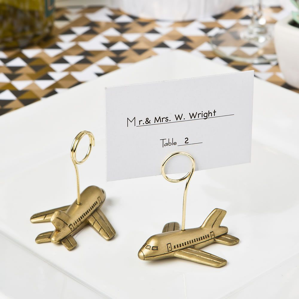 Airplane Design Placecard or Photo Holders | Airplane design, Travel ...