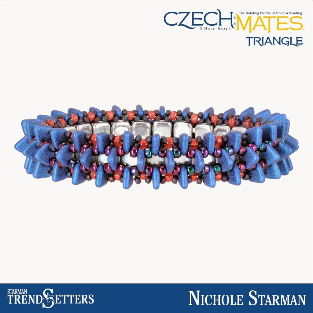 CzechMates Triangle bracelet by Starman TrendSetter Nichole Starman